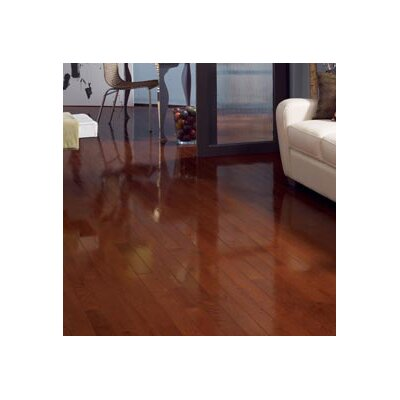 "Somerset Floors Color Strip 2-1/4"" Solid Red Oak Flooring in Cherry Oak High Gloss"