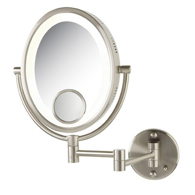 Dual Sided 10x Halo Wall Mount Halo Lighted Mirror