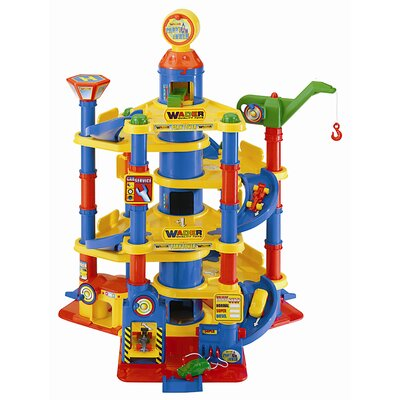 Wader Quality Toys Children's Parking Tower with 7 Floors and 2 Cars
