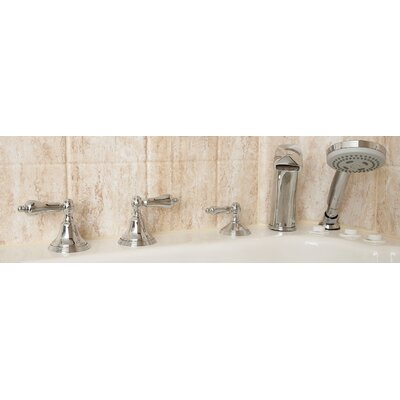 Safety Tubs Two Handle Tub Filler with Personal  Hand Shower in Chrome