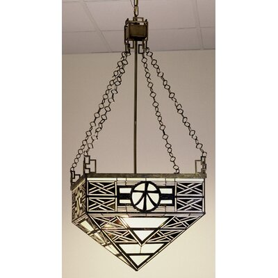 Mission 4 Light Inverted Pendant