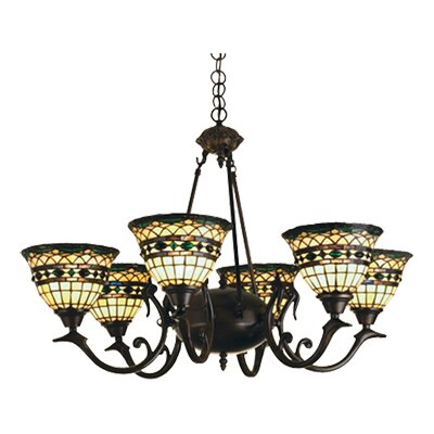 Meyda Tiffany 6 Light Tiffany Roman Chandelier