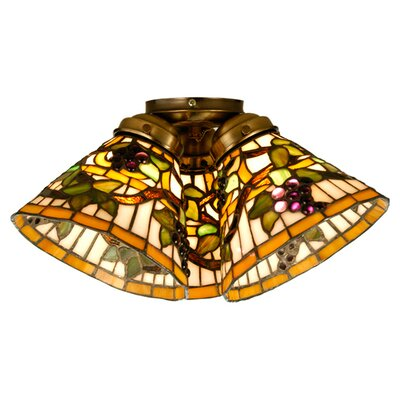 Meyda Tiffany Jeweled Grape Fan Light Shade