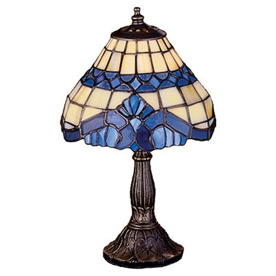 Meyda Tiffany Art Glass Baroque Mini Table Lamp