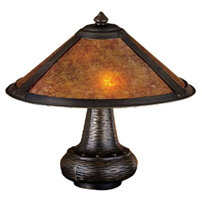 Meyda Tiffany Rustic Van Erp Amber Mica Accent Table Lamp