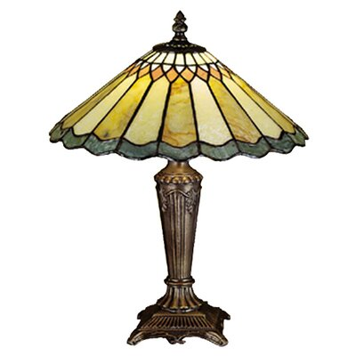 Meyda Tiffany Jadestone Nouveau Carousel Accent Table Lamp