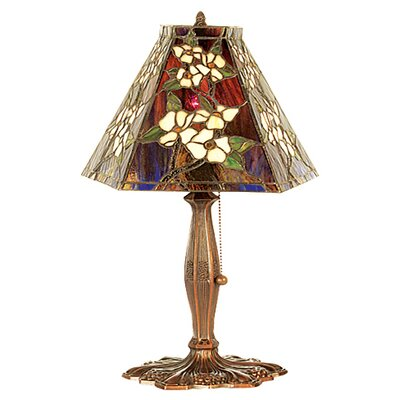 Meyda Tiffany Oriental Peony Accent Lamp