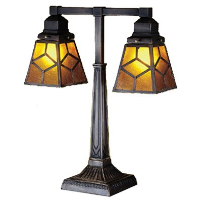 Meyda Tiffany Southwest Mica Diamond Mission Table Lamp