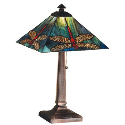 Meyda Tiffany Prairie Animals Dragonfly Table Lamp