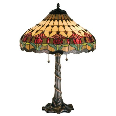 Meyda Tiffany Colonial Tulip Table Lamp