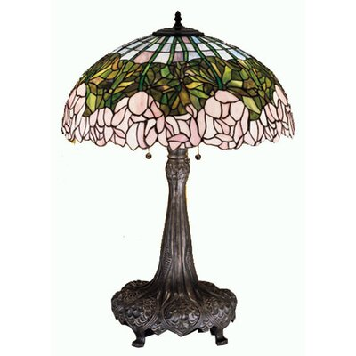 Meyda Tiffany Cabbage Rose Table Lamp