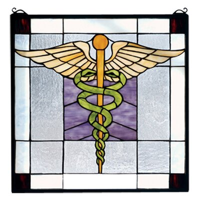 Meyda Tiffany Americana Medical Stained Glass Window
