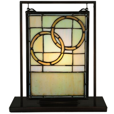 Meyda Tiffany Wedding Mini Tabletop Window Table Lamp