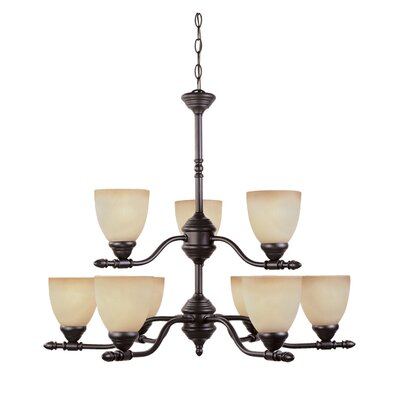 Designers Fountain Apollo 9 Light Chandelier