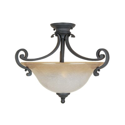 Designers Fountain Barcelona Semi Flush Mount
