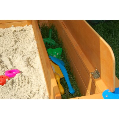 Exaco Maxi 4' Rectangular Sandbox with Cover