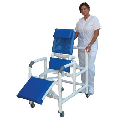 MJM International Reclining Shower Chair with Leg Extension