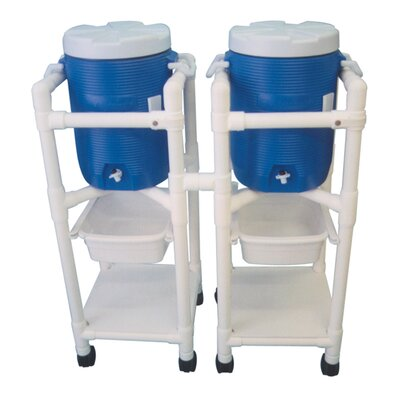 MJM International Hydration Cart with 5 Gallon Water Cooler