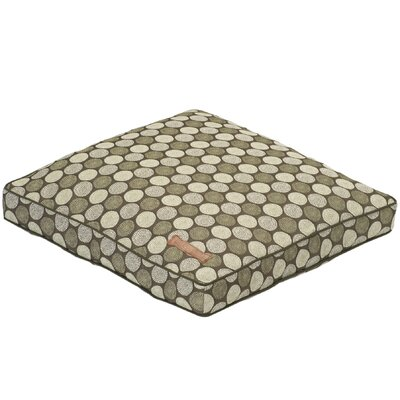 Jax and Bones Medallion Square Pillow Dog Bed