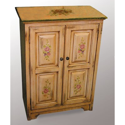 AA Importing Two Door Chest in Ivory and Floral