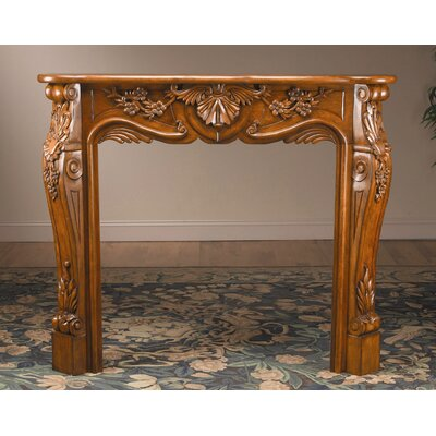 AA Importing Fireplace Surround with Carved Design in Light Cherry