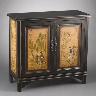1 Door Cabinet with Oriental Lady Design
