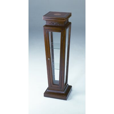 AA Importing Display Pedestal Case in Light Walnut