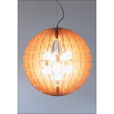B.Lux Helios 60 Wood Pendant Light