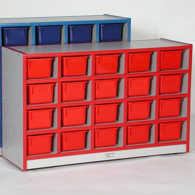 Mahar 20-Tray Cubbie Unit with Trays