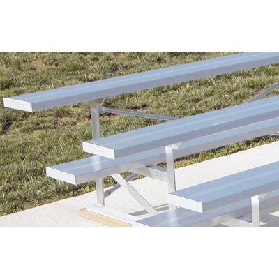 Ultra Play Low Rise Four-Row Aluminum Bleacher