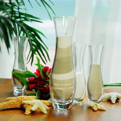 Cathys Concepts Wedding Sand Ceremony Unity Sand Vases (Set of 4)