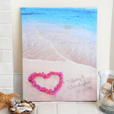 Ocean Waves of Love Gallery Wrapped Canvas Art