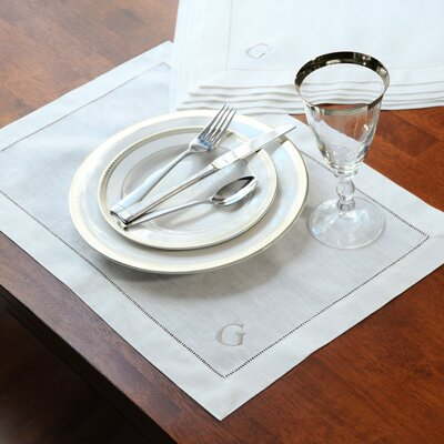 Linen Hemstitch Placemat (Set of 6)