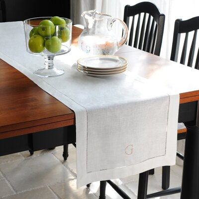 Cathys Concepts Linen Hemstitch Table Runner