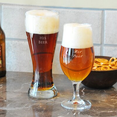 Cathys Concepts Custom His and Her Pilsner Glass Set