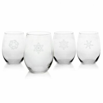 Cathys Concepts Holiday Stemless White Wine Glass (Set of 4)