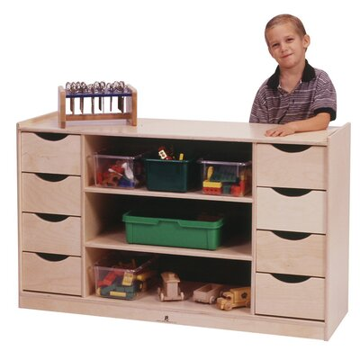 Steffy Wood Products Eight Drawer Storage Unit