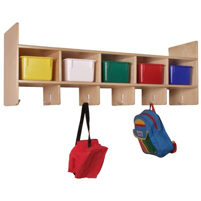 Steffy Wood Products Five Section Wall Locker with Optional Tote Trays