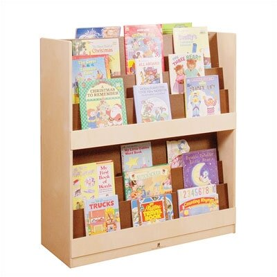 Steffy Wood Products Double Height Book Display Unit