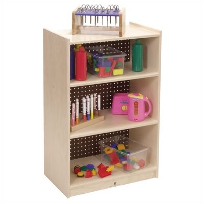 Steffy Wood Products Three-Shelf Mobile Storage Unit