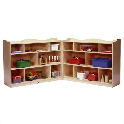 Steffy Wood Products 36&quot; Scalloped Fold and Lock Mobile Storage Unit