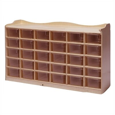 Steffy Wood Products 30-Tray Mobile Cubbie Unit