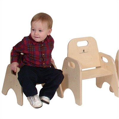 "Steffy Wood Products 5"" Wood Classroom Toddler Stackable Chair"