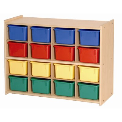 Steffy Wood Products 16 Tray Storage with Tray