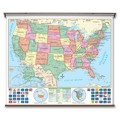 Universal Map Primary Wall Map - United States