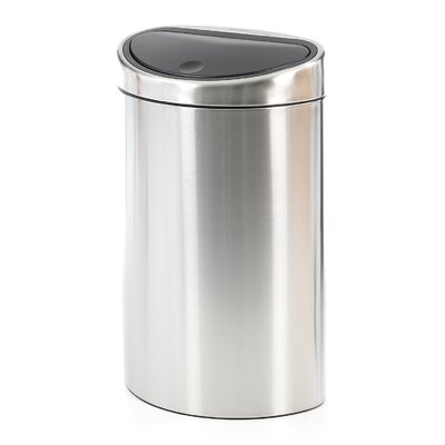 40 Liter Fingerprint Proof Touch Bin Trash Receptacle