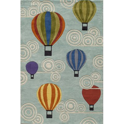 Momeni Lil' Mo Lil Mo Whimsy Hot Air Balloons Kids Rug