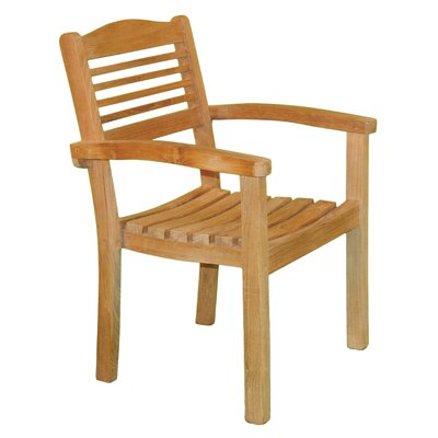 Jewels of Java Stacking Dining Arm Chair