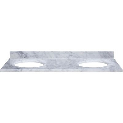 "Xylem 61"" Marble Vanity Top for Undermount Sinks with Backsplash"