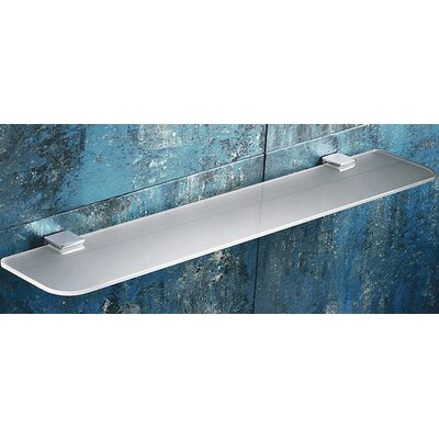 Gedy by Nameeks Glamour Glass Shelf with Chrome Hardware